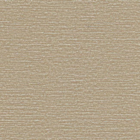 Faux Silk Wallpaper in Medium Brown and Metallic design by York Wallcoverings