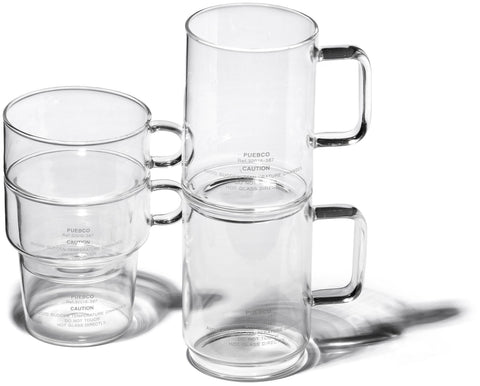 Borosilicate Glass Mug - Shallow Stacking design by Puebco