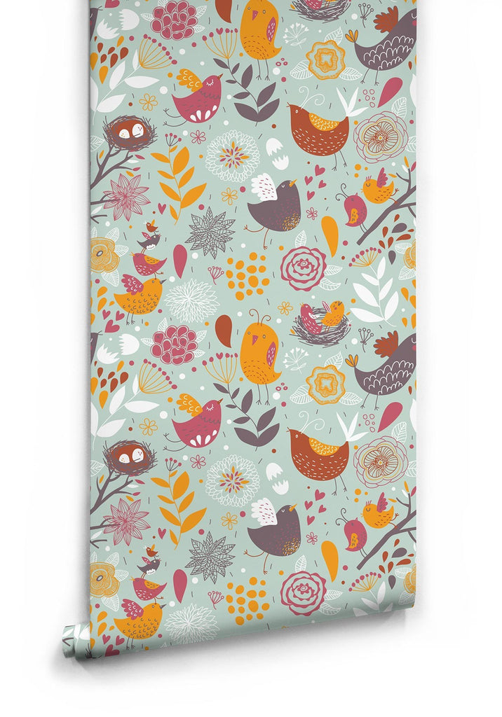 Feather Your Nest Wallpaper by Muffin & Mani for Milton & King