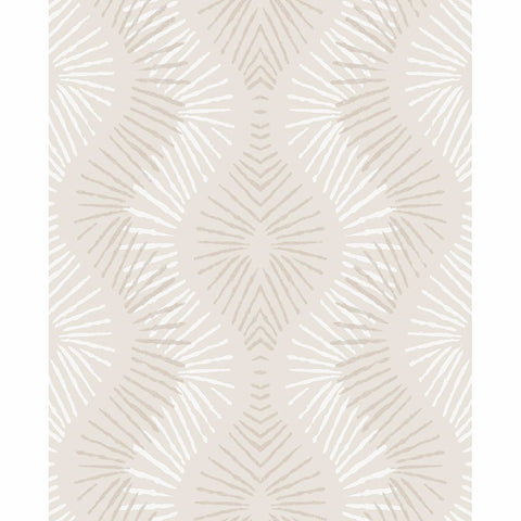 Feliz Beaded Ogee Wallpaper in Platinum from the Celadon Collection by Brewster Home Fashions