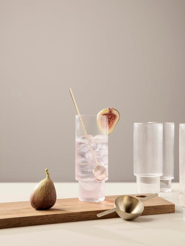 Ripple Long Drink Glass Set by Ferm Living