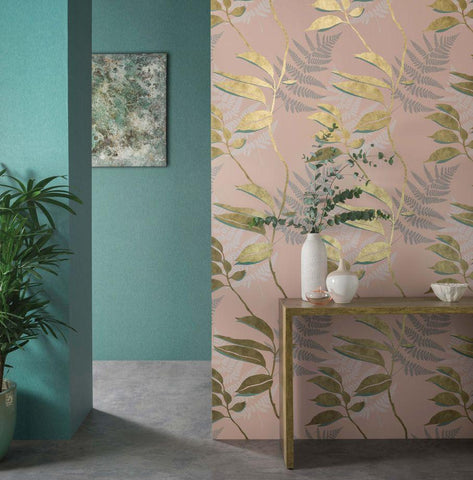 Feuille D'or Wallpaper from the Folium Collection by Osborne & Little