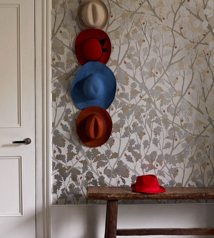 Feuille de Chene Wallpaper from the Cabochon Collection by Osborne & Little