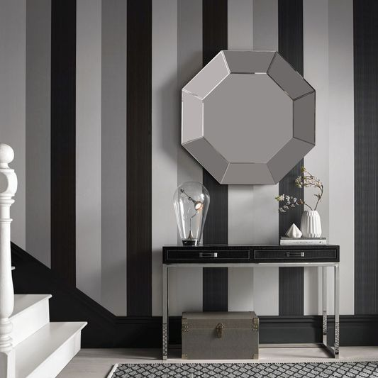 Figaro Black Wallpaper from the Exclusives Collection by Graham & Brown