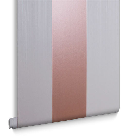 Sample Figaro Rose Gold & Mink Wallpaper from the Exclusives Collection by Graham & Brown