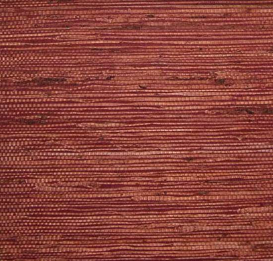Sample Fine Arrowroot Wallpaper in Maroon from the Winds of the Asian Pacific Collection by Burke Decor