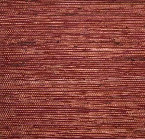 Fine Arrowroot Wallpaper in Maroon from the Winds of the Asian Pacific Collection by Burke Decor