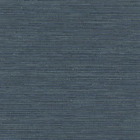 Fine Line Wallpaper in Navy from the Design Digest Collection by York Wallcoverings
