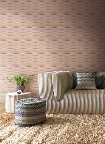 Fireworks Wallpaper in Orchid and Mauve by Missoni Home for York Wallcoverings