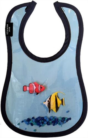 Fish Bowl Baby Bib by Mini Maniacs