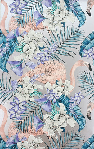 Flamingo Club Wallpaper in Metallic by Matthew Williamson for Osborne & Little