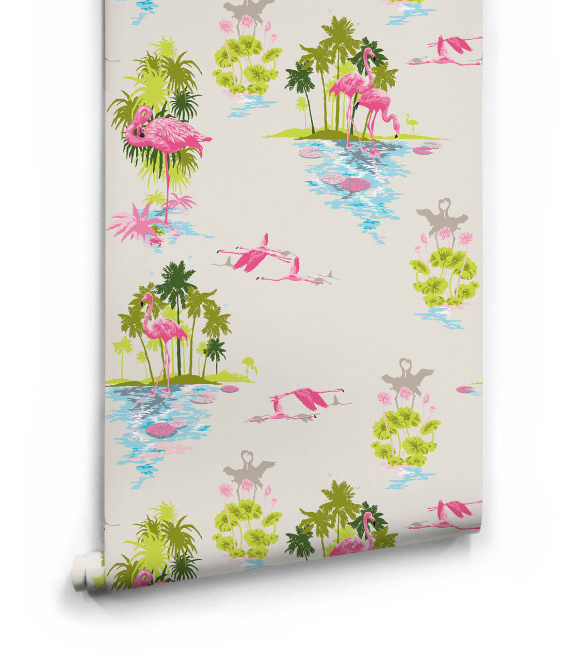 Flamingo wallpaper in dusk from the kingdom home for Home wallpaper collection