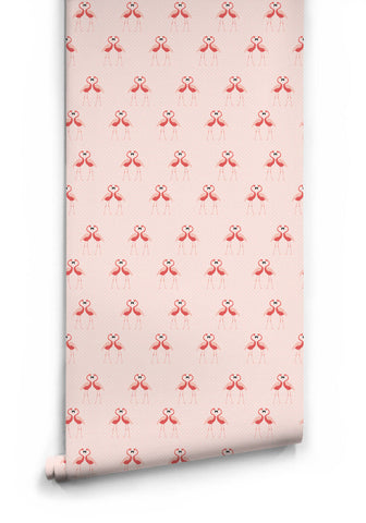 Flamingos Wallpaper from the Love Mae Collection by Milton & King