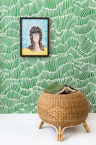 Flashdance Wallpaper in Freshly Mowed by Anna Redmond for Abnormals Anonymous