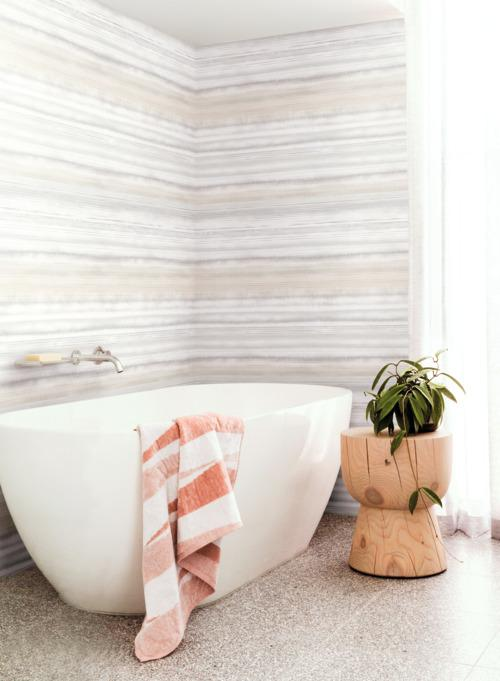 Fleeting Horizon Stripe Wallpaper from the Impressionist Collection by York Wallcoverings