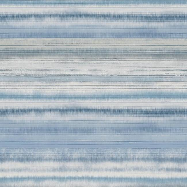 Fleeting Horizon Stripe Wallpaper in Blue from the Impressionist Collection by York Wallcoverings