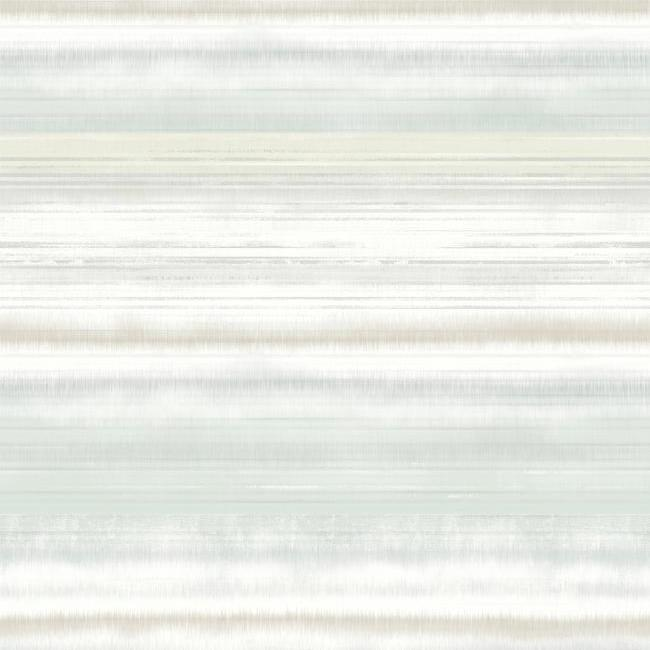 Fleeting Horizon Stripe Wallpaper in Green from the Impressionist Collection by York Wallcoverings