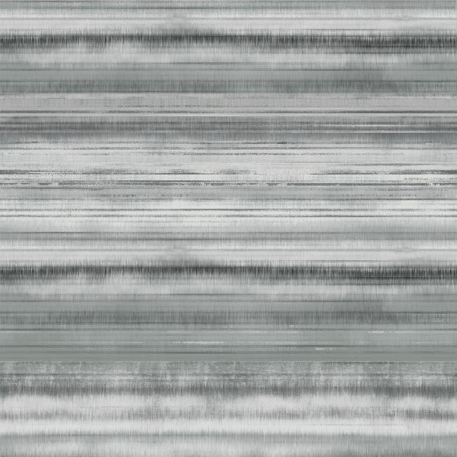 Fleeting Horizon Stripe Wallpaper in Grey from the Impressionist Collection by York Wallcoverings