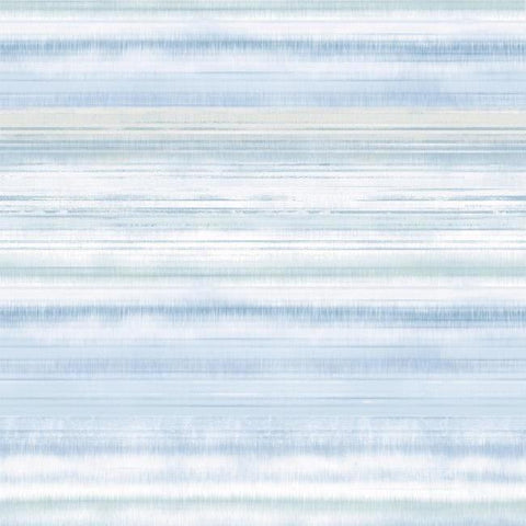 Fleeting Horizon Stripe Wallpaper in Light Blue from the Impressionist Collection by York Wallcoverings