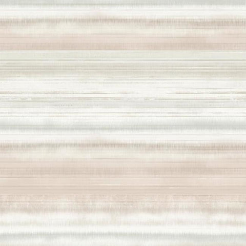 Fleeting Horizon Stripe Wallpaper in Pink and Beige from the Impressionist Collection by York Wallcoverings