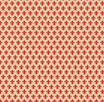 Fleur-de-lis Contact Wallpaper in Red by Burke Decor