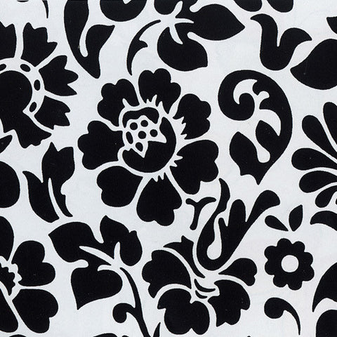 Floral Contact Wallpaper in Black and White by Burke Decor