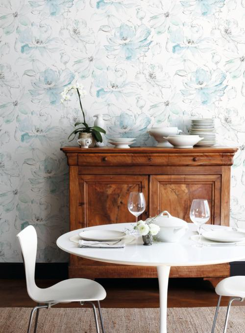 Floral Dreams Wallpaper from the Impressionist Collection by York Wallcoverings