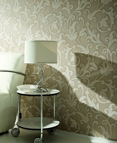 Floral Scrollwork Wallpaper design by BD Wall