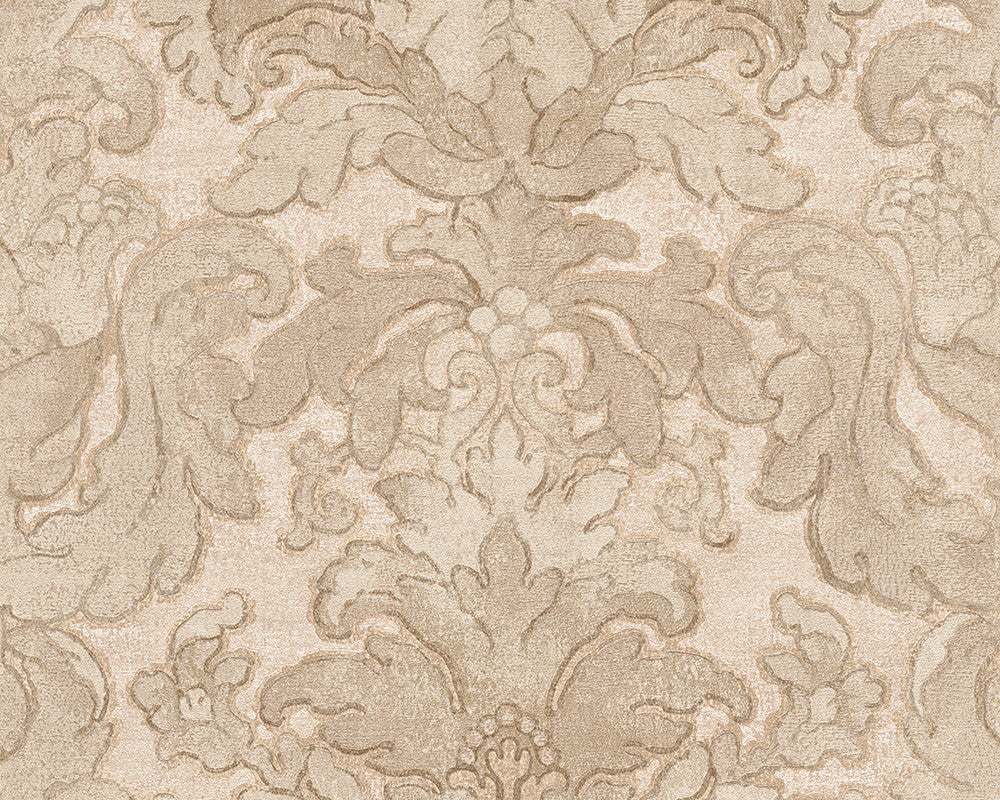 Floral Structures Wallpaper In Beige And Brown Design By BD Wall