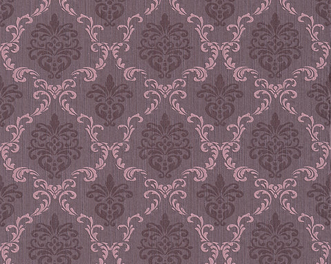 Floral Trellis Wallpaper in Purple design by BD Wall