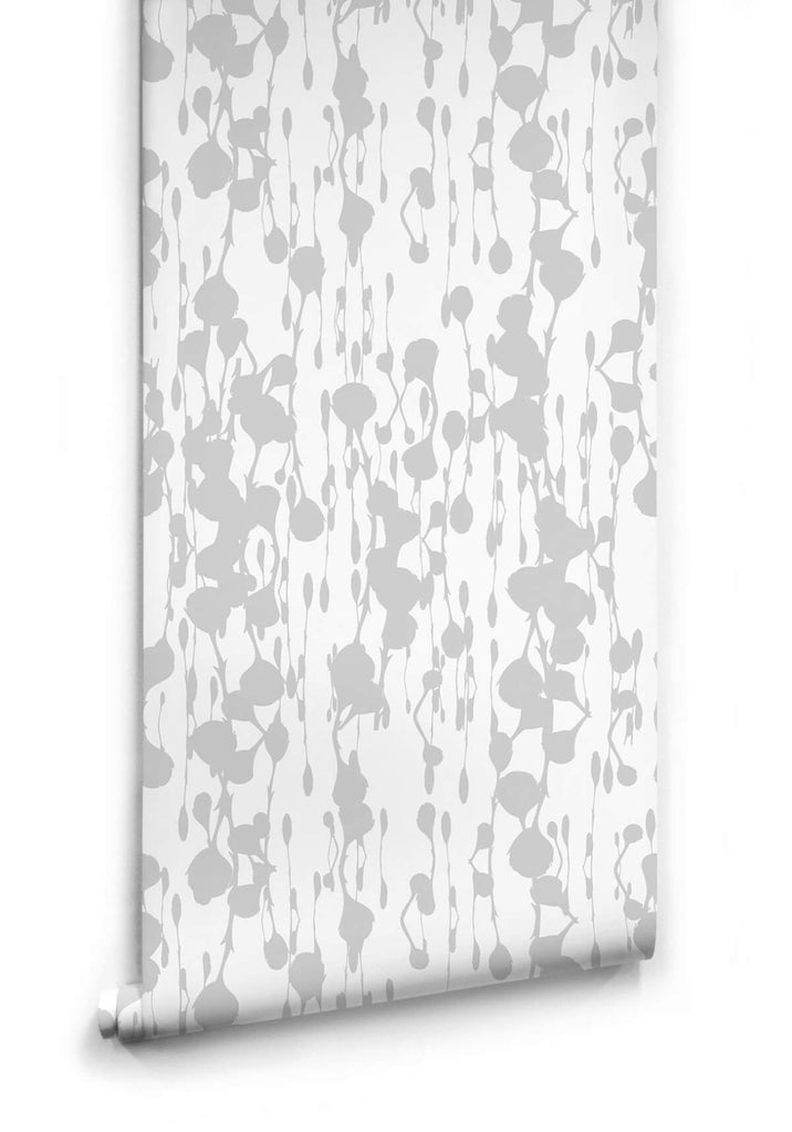 Floss Delight Wallpaper in Grey from the Ella & Sofia Collection by Milton & King