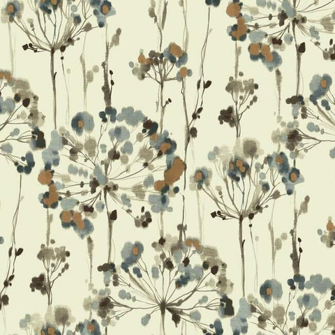 Flourish Peel & Stick Wallpaper in Teal by York Wallcoverings