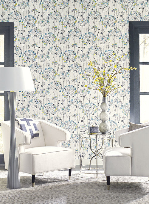 York Wallcoverings  CN2102 Candice Olson Modern Artisan Flourish Wallpaper