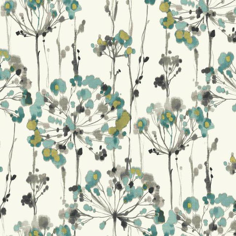 Flourish Wallpaper in Blue design by Candice Olson for York Wallcoverings