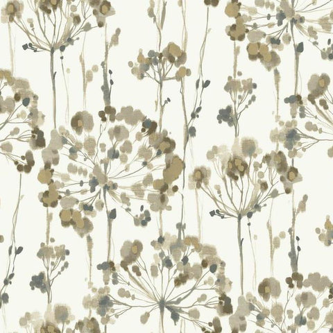 Flourish Wallpaper in Green design by Candice Olson for York Wallcoverings