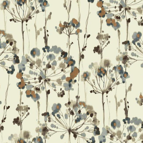 Sample Flourish Wallpaper in Grey design by Candice Olson for York Wallcoverings