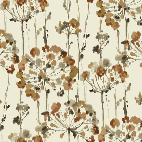 Flourish Wallpaper in Orange design by Candice Olson for York Wallcoverings