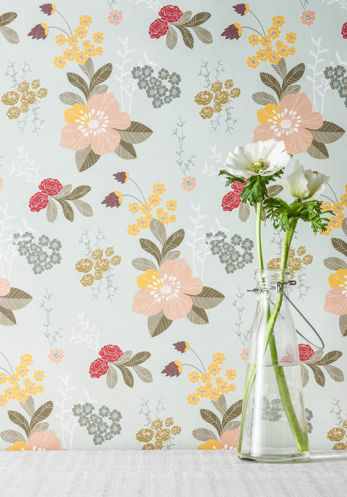 Flower Garden Wallpaper from the Love Mae Collection by Milton & King
