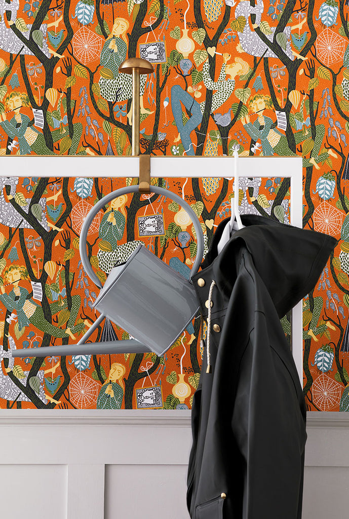 Folk Melodi Wallpaper from the Scandinavian Designers II Collection by Brewster Home Fashions