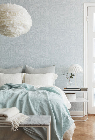 Folk Poem d'Amour Wallpaper from the Scandinavian Designers II Collection by Brewster