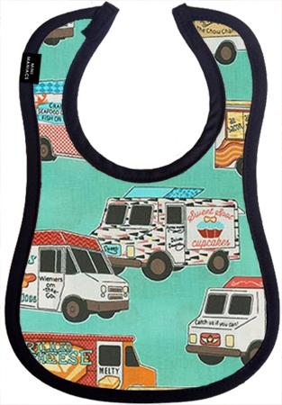 Food Truck Baby Bib by Mini Maniacs