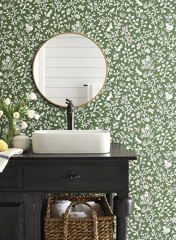 Fox & Hare Wallpaper from Magnolia Home Vol. 2 by Joanna Gaines