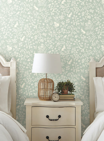 Fox & Hare Wallpaper from the Magnolia Home Vol. 3 Collection by Joanna Gaines