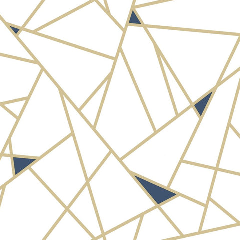 Fracture Peel & Stick Wallpaper in Gold by RoomMates for York Wallcoverings