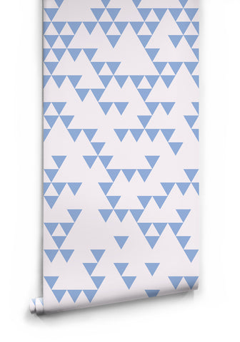 Sample Fracture Wallpaper in Blue Fog by Ingrid + Mika for Milton & King
