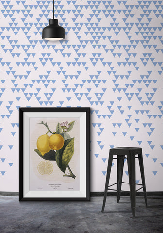Fracture Wallpaper in Blue Fog by Ingrid + Mika for Milton & King