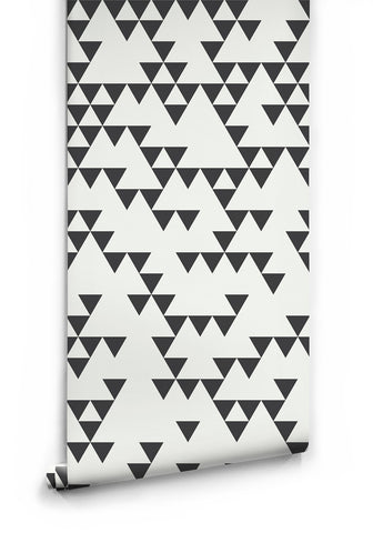 Sample Fracture Wallpaper in Black and White by Ingrid + Mika for Milton & King
