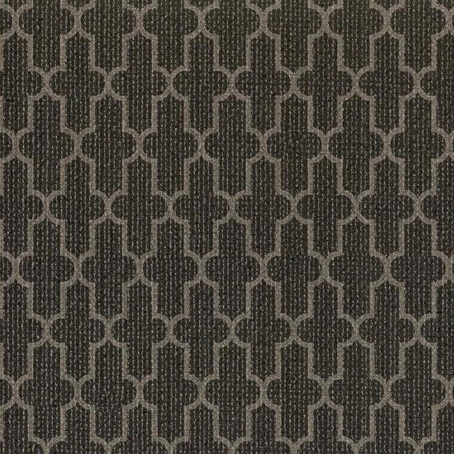 Frame Geometric Wallpaper in Black and Metallic design by York Wallcoverings