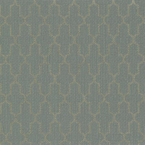 Frame Geometric Wallpaper in Bluish Grey and Metallic design by York Wallcoverings