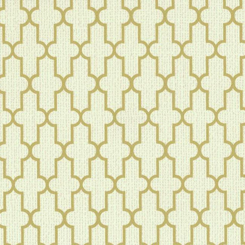 Frame Geometric Wallpaper in Ivory and Gold design by York Wallcoverings